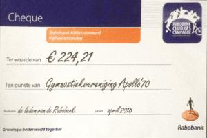 Resultaat Rabobank Clubkas Campagne 2018